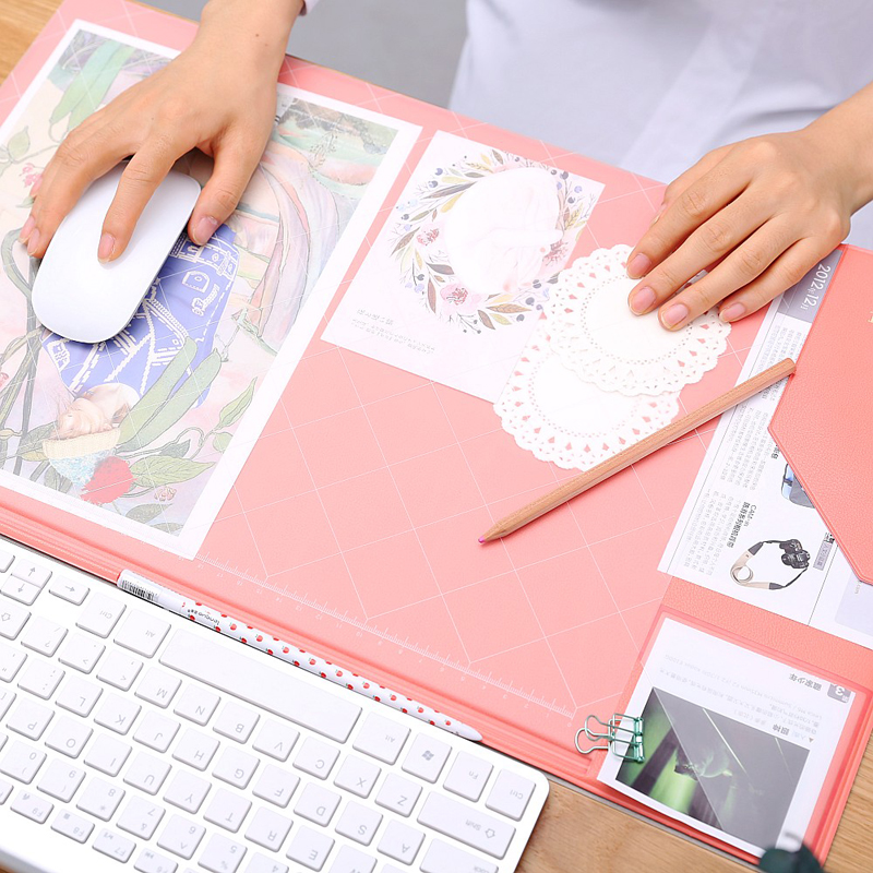 Multifunction Office Mat Business Non-slip Mouse Pad Weekly Planner Organizer Desk Table Storage Memo Mat Learning Pad