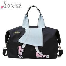 С. IKRR дорожные сумки ручной клади организатор большие емкость свободного покроя Оксфорд вещевой мешок женщины сумочка индивидуальный тренажерный зал Crossbody