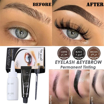 Fast Tint 15 minute  Easy Dye Eyebrow Gel Professional Series Henna Eyelash Eyebrow Dye Tint Gel Eyelash Brown Tint Cream Kit