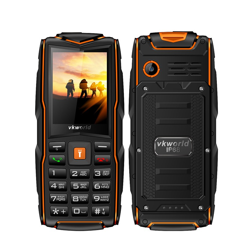 VKworld New Stone V3 Mobile Phone Waterproof IP68 2.4 inch FM Radio 3 SIM Card Led Flashlight GSM Russian Keyboard Cell phones|Cellphones| - AliExpress
