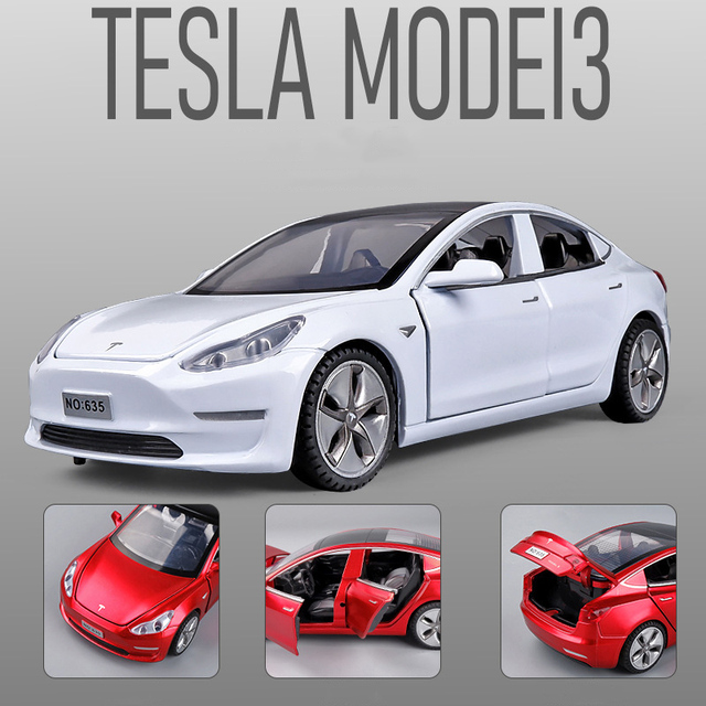 New 1:32 Tesla MODEL 3 Alloy Car Model Diecasts & Toy Vehicles Toy Cars Free Shipping Kid Toys For Children Gifts Boy Toy 3