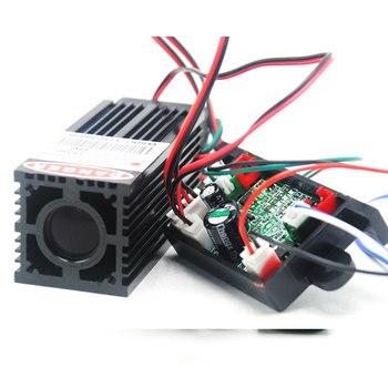 цена на Industrial 12V Thick Beam 60mW-80mW 532nm Green Laser Dot Module w/TTL& Fan Cool