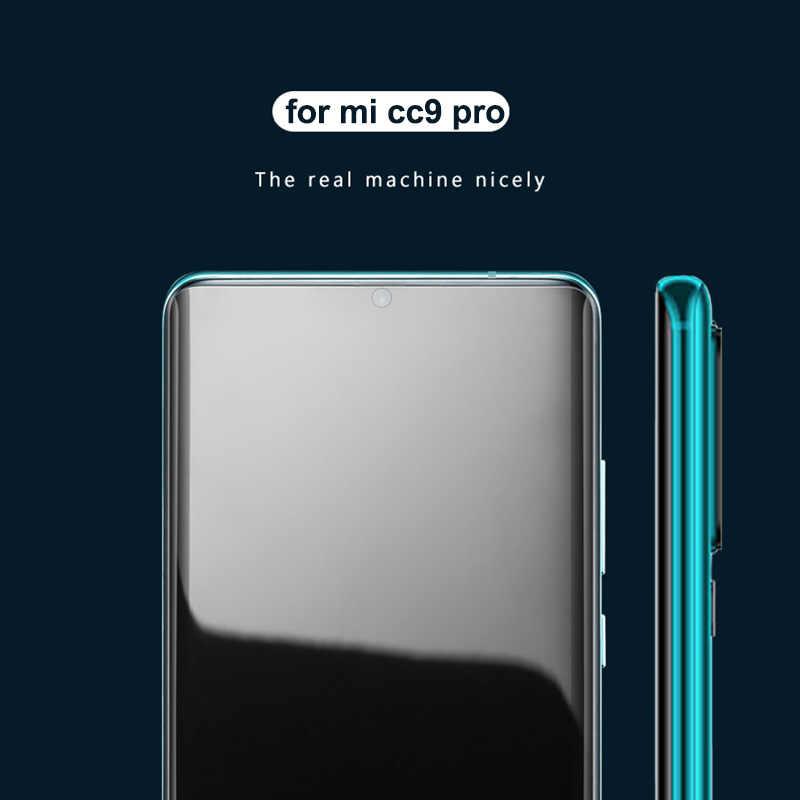 الأشعة فوق البنفسجية الغراء الزجاج المقسى ل جهاز شاومي مي نوت 10 CC9 برو UV واقي الشاشة السائل ل Xio mi mi CC 9 برو نوت 10 فيلم العالمي CC9 برو