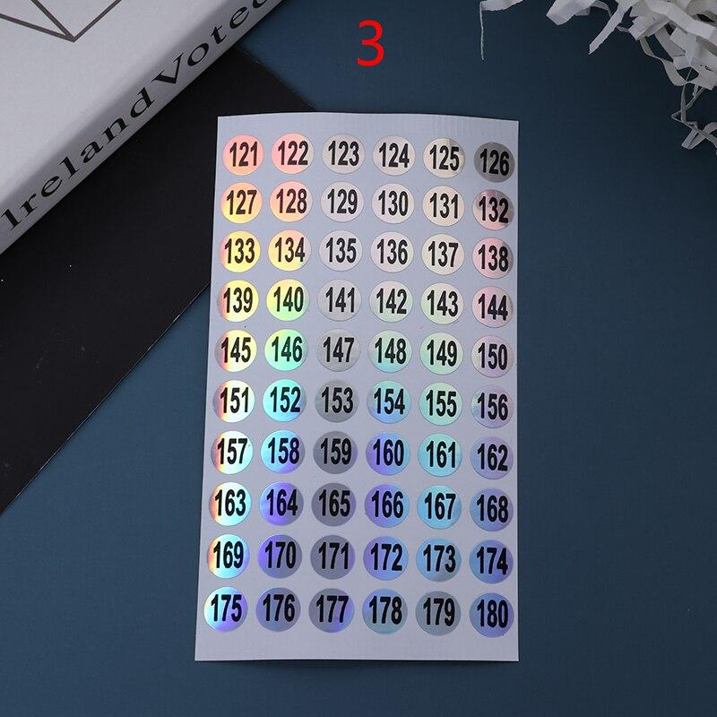 Этикетка с номером для лака ногтей Цветной Гель лак 1 60/ 61