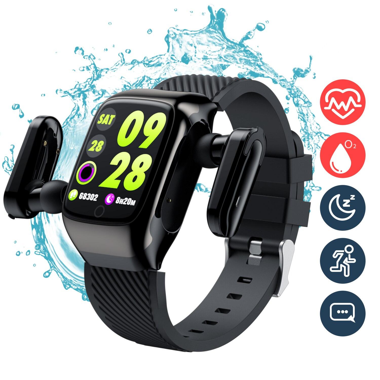 2 em 1 relógio inteligente bluetooth 5.0
