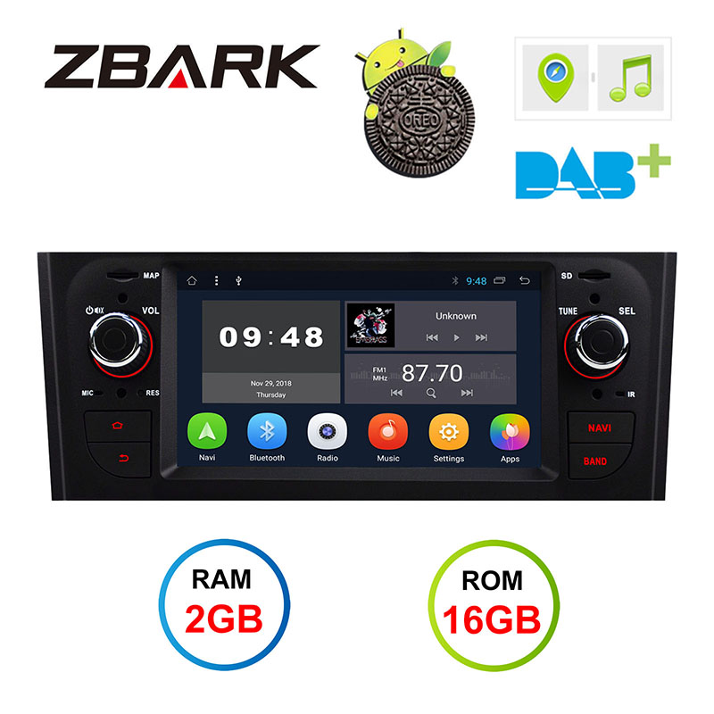 GPS Android 1din Touch-Screen Linea Car-Stereo Grande FIAT 2G for 199/310 2005-2009 YHTPD3L2