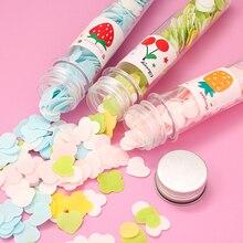 Портативный мини цветок бумага мыло ломтик случае случайный цвет руки тело мыть ванна конфетти вспенивание блюдо для поездки чистки