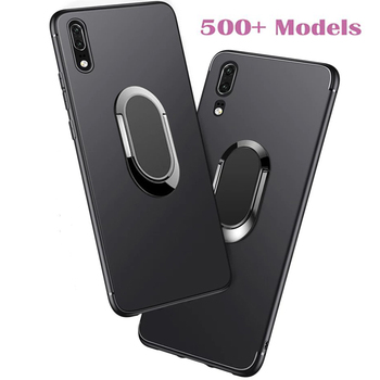Soft Case for Xiaomi Redmi 6A Note 6 7 7S 8 8A 8T Y3 7A Note 9 Pro Max 9S 10X Cases Ring Holder Stand Car Magnetic Phone Cover image