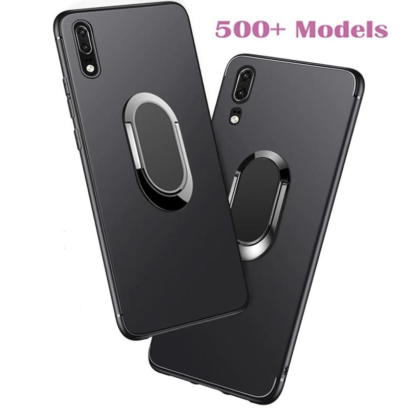 Étui souple pour Huawei Honor V9 Jouer V8 6C 4C Pro 4A Abeille Y541 Y5C 6 Plus 7 Lite 7i Bague Porte-Téléphone Couverture
