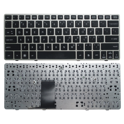 SSEA New Laptop US Keyboard With Silver Frame For HP Elitebook 2560 2560P 2570 2570P