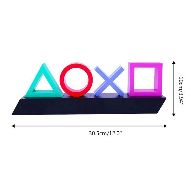 Playstation Sign Voice Control Game Icon Light Acrylic Atmosphere Neon With USB Cable For KTV Bar Living Room Bedroom Decoration 4
