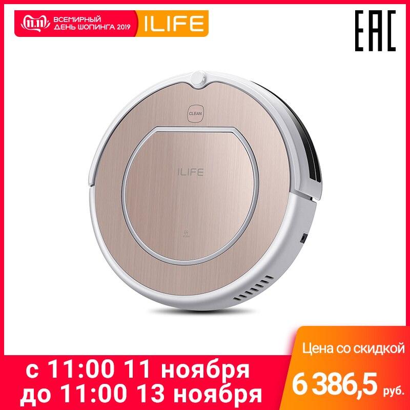 Robot aspirateur ILIFE V50 Pro avec fonction mémoire (silencieux, route mémoire puissante, 120 de travail)