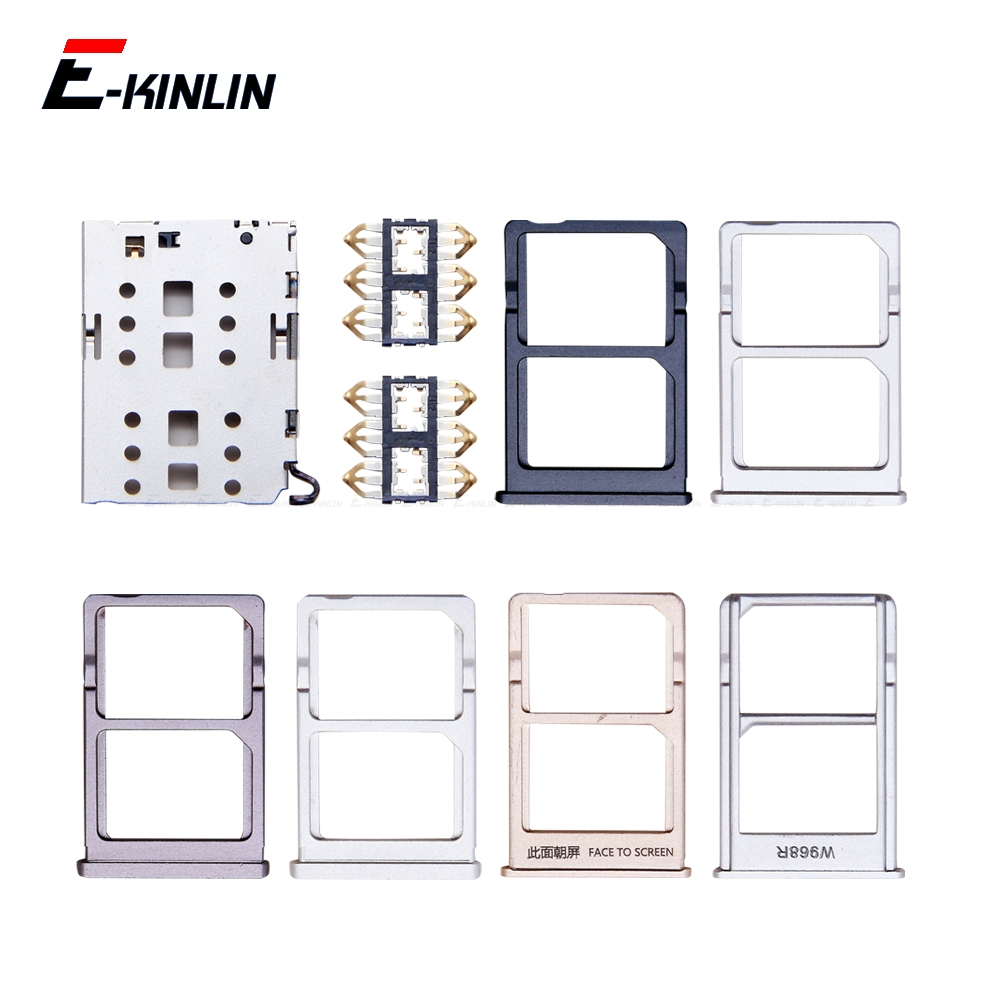 Sim Card / Micro SD Card Tray Socket Holder Slot Container Connector Adapter Reader Replacement Parts For XiaoMi Mi 6 5 5S Plus