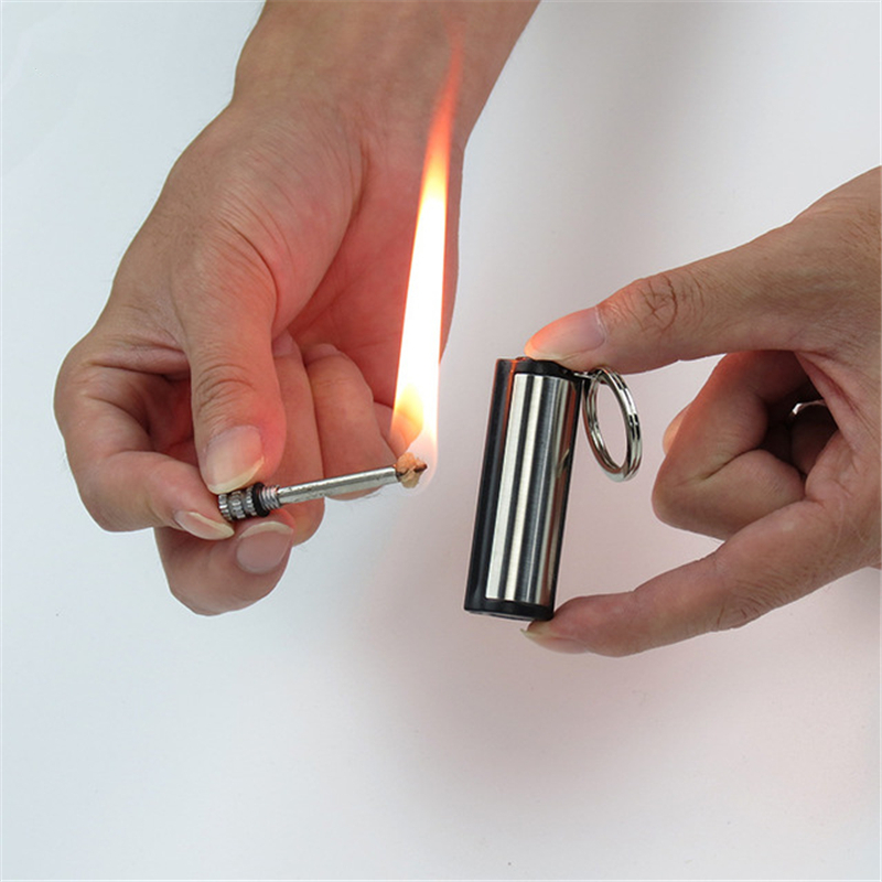 New 1600 Times Instant <font><b>Emergency</b></font> Fire Starter Flint Match <font><b>Lighter</b></font> Metal Outdoor Hiking Camping Safety Survival Tools image