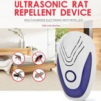 Mosquito ultra-sônico inseto assassino eletrônico barata rato repelente de pragas rejeitar barata repelente