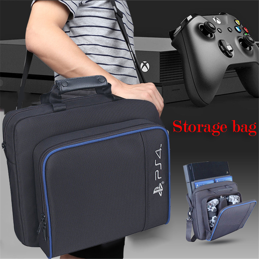 Travel Console Storage Bags Shockproof Playstation Protecive Backpack Games Accessories Suitable For PS4 SLIM