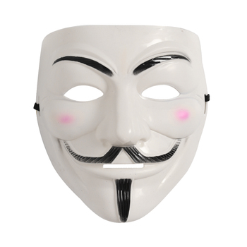 Masquerade Party V for Vendetta Mask Anonymous Guy Fawkes Hacker Cosplay Horror Costume Halloween Mascara Accessory for Adults image