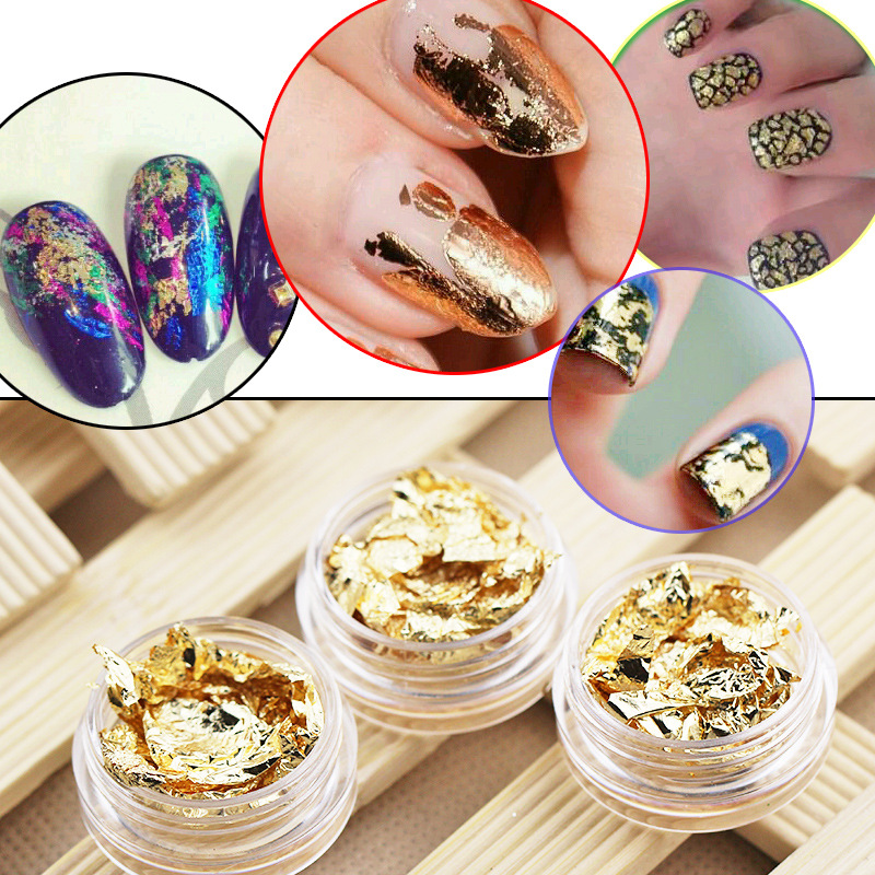 Cross Border For Nail Sticker Gold Foil South Korea Nail Jewelry DIY Japanese-style Phototherapy Crystal Nail Tin Foil Coloured