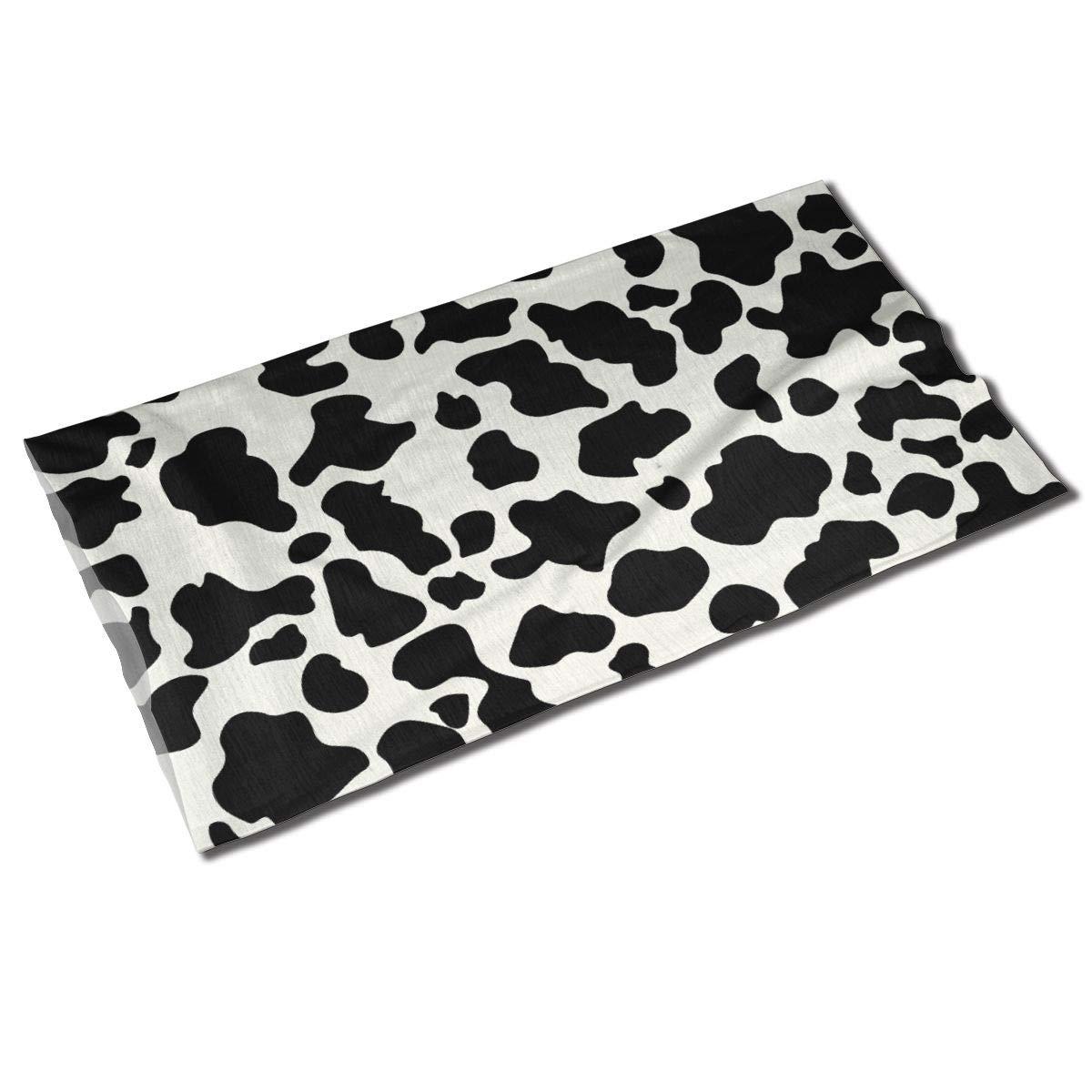Cow Print Unisex Outdoor Sport Scarf Headbands Bandana Mask Neck Gaiter Head Wrap Sweatband Headwear