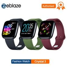 Zeblaze ساعة ذكية كريستال 3 الذكية الفرقة 1.3 بوصة شاشة Mulit اللغة WR IP67 معدل ضربات القلب ضغط الدم عمر البطارية الطويل IPS