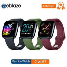Zeblaze Smart Watch Crystal 3 Smart Band 1.3 inch Screen Mulit Language WR IP67 Heart Rate Blood Pressure Long Battery Life IPS