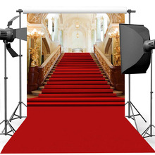 цена на Vintage Palace Red Carpet Photography Background for Wedding Backdrop Vinyl Birthday Artistic Portrait Photography Backdrops