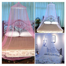 Mosquito Nets Elegant Round Lace Insect Bed Canopy Netting Curtain Hung Dome For Summer Repellent Tent Insect Reject Canopy elegant hung dome mosquito nets for summer polyester mesh fabric home textile wholesale bulk accessories supplies products