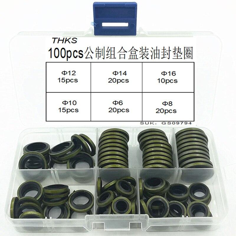12mm 14mm 16mm Drain Plug Gasket Assortment 100pc
