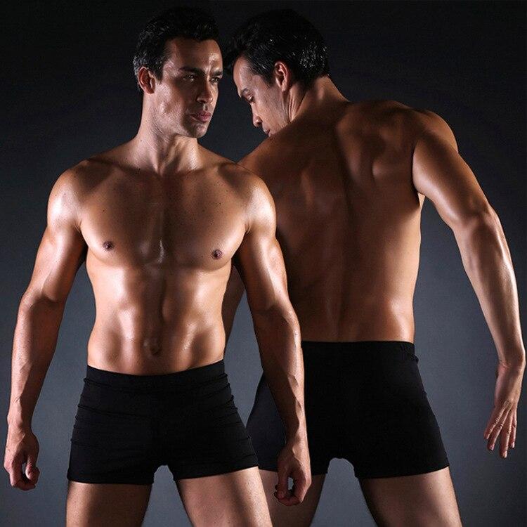 Aussiebum 2019 New Style Pure Black Four Corners Swimming Trunks Fashion MEN'S Swimsuit Wholesale MEN'S Swimming Trunks