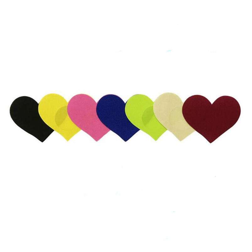 10 Pairs (20 Pcs) /lot Big Heart Shape Breast Pasties Women Nipple Covers  -4 Color-non-sensitizing Adhesive With A Soft