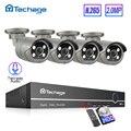 H.265 8CH 1080P HDMI POE NVR CCTV System Set Zwei Weg Audio 2MP AI IP Kamera Im Freien Wasserdichte Video sicherheit Überwachung Kit-in Überwachungssystem aus Sicherheit und Schutz bei