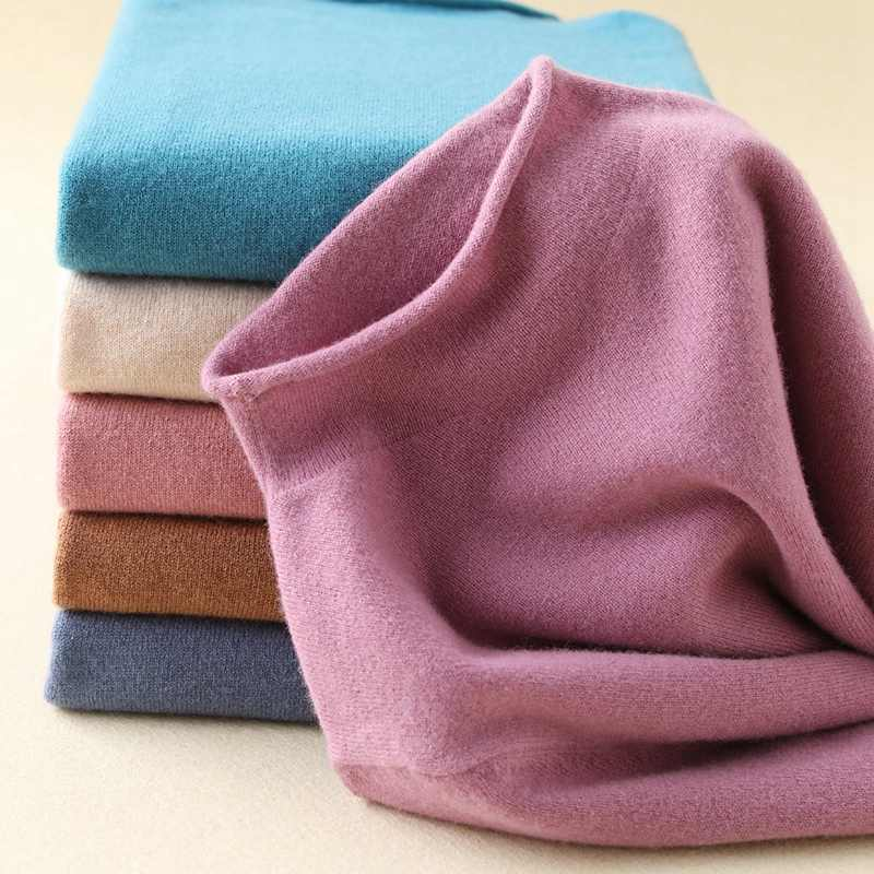 SZDYQH Super Warm 100% Cashmere Sweaters and Pullovers Women Autumn Winter Soft Sweater Turtleneck Female Basic Pullovers