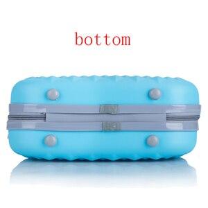 Image 4 - Professionale di bellezza ABS caso Cosmetico Per Le Donne sacchetto Cosmetico Dellorganizzatore di viaggio valigia caso di trucco Delle Donne scatola di trucco borse 14 pollici