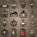 Loft américain Vintage lampes personnalité balcon en fer forgé lampes suspendues  vintage Edison lampes suspendues lumières luminaria|Lampes à suspension|   -