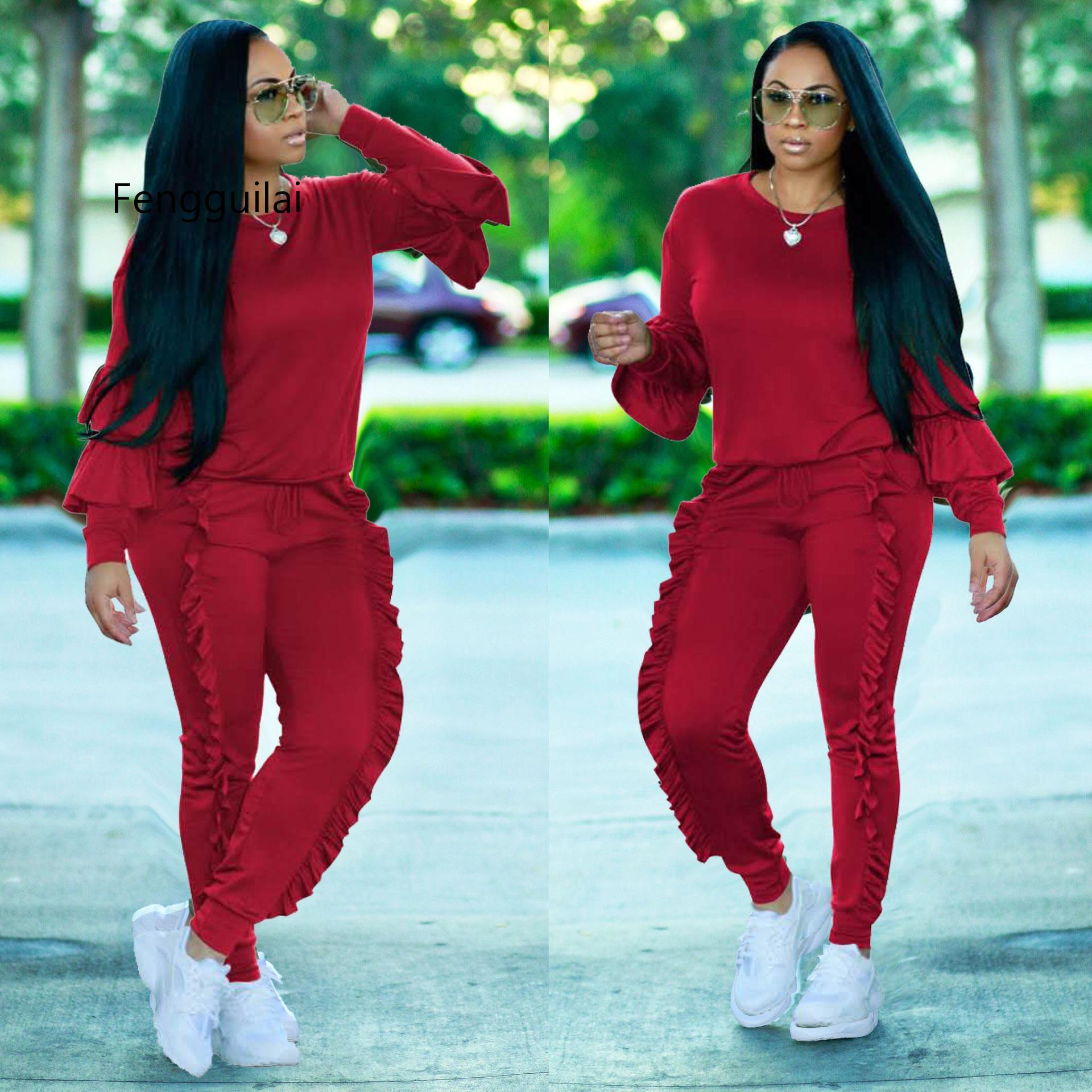 8 colors S-3XL  autumn/winter Women's Set fashion sexy women solid patchwork suits casual nightclub party tracksuit