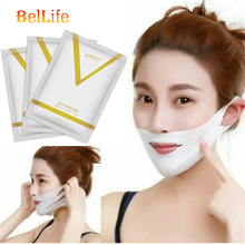 10pcs 4D V Face Shape Tension Firming Mask Paper Slimming Eliminate Chin Edema Lifting Firming Thin Masseter Face Care Tool 4d double v face shape tension firming face mask paper slimming reduce double chin lifting firming thin masseter face care tool