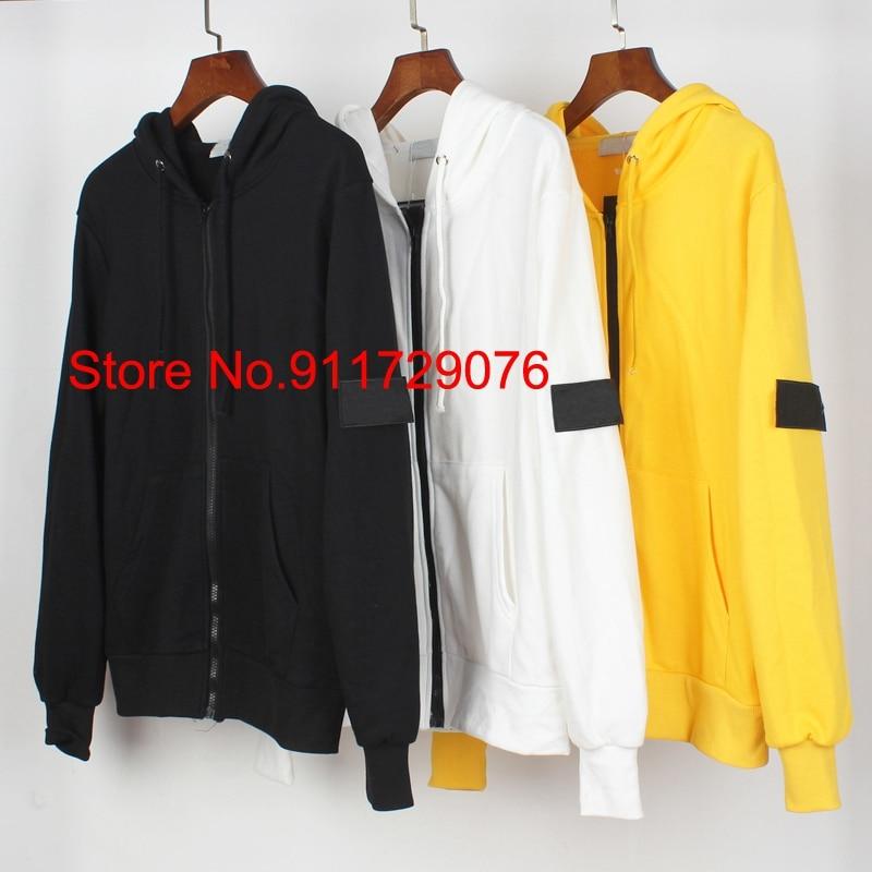 High Quality Cross Patched ZIP UP Hoodies Men Women Badge Embroidery Hiphop Oversized Hooded Sweatshirts Men