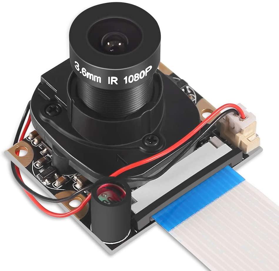 Raspberry Pi 4 B 3 B + модуль камеры, автоматическое переключение ИК-излучения, видео-модуль дневного/ночного видения, регулируемый фокус 5MP 1080p