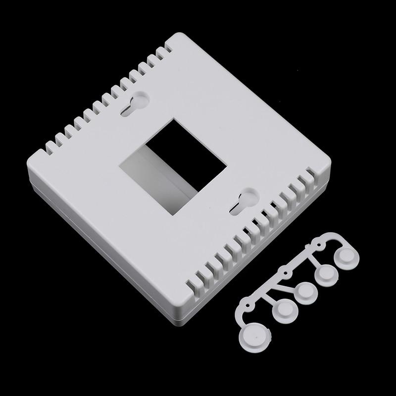 1 шт. 8,6x8,6x2,6 см белый чехол для DIY LCD1602 Измеритель Тестер с кнопкой 86 Пластиковый корпус для проекта