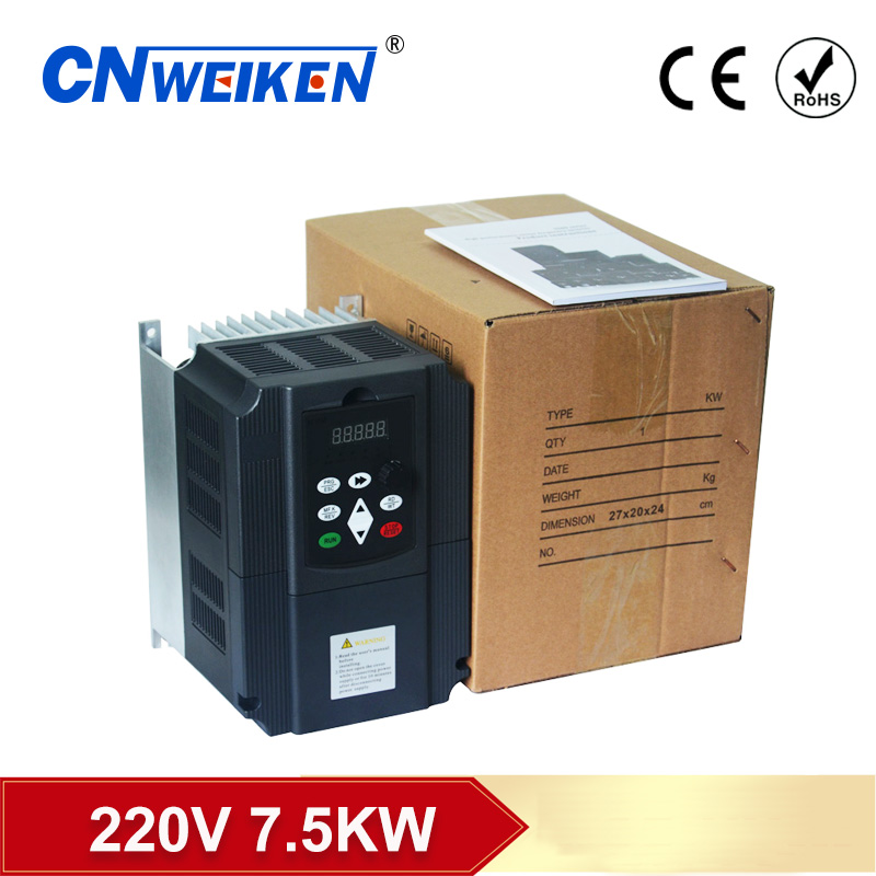 Frequency Converter Adjustable Speed VFD Inverter 7.5KW 10HP 220V 50/60HZ Output for Motor Low Frequency inverter