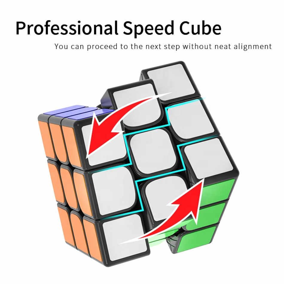 YJ Yulong V2 M 3x3 черный и без наклеек скоростной куб Yongjun Yulong 2 м Магнитный магический куб пазл Cubo Magico для детей