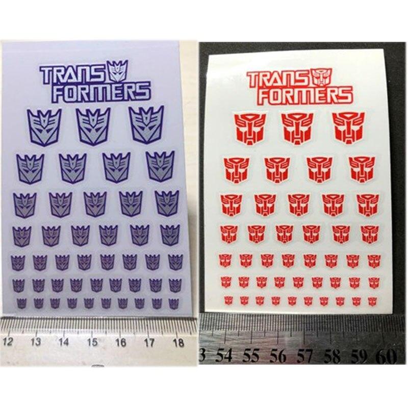 45pcs Transformation Decepticons Autobots G1 Stickers Symbol Decal for Custom DIY Scene Accessories Decoration