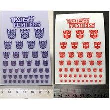 45 pçs transformação decepticons autobots g1 adesivos símbolo decalque para personalizado diy acessórios cena decoração