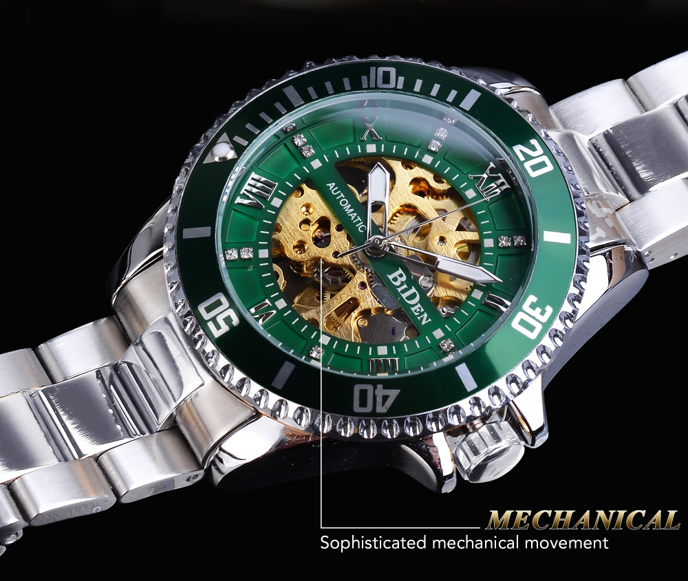 relógio de aço inoxidável à prova dwaterproof