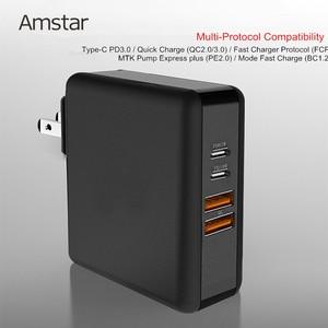 Image 4 - Amstar 61 w 듀얼 usb c 타입 c pd 고속 충전기 macbook pro air 화웨이 hp 노트북 태블릿 듀얼 빠른 충전 3.0 전원 어댑터