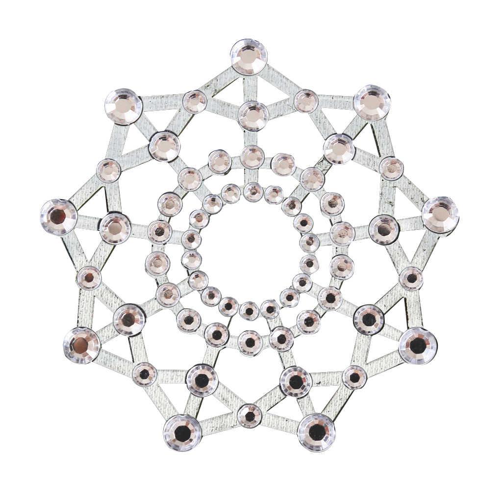 2 Pasang Menyenangkan Seksi Kristal Berlian Imitasi Puting Pasties Payudara Stiker Produk Seks Intimate Puting Stiker