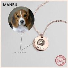 MANBU Hot arrival Personalized customization necklace women pet photo 925 sterling silver customed fashion luxury jewelry 2019