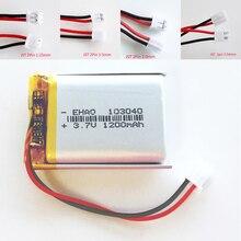 3.7V 1200Mah 103040 Lithium Polymer Lipo Oplaadbare Batterij + Jst 2Pin 1.25/1.5/2.0/2.54mm Plug Voor MP3 Gps Dvd Mobiele