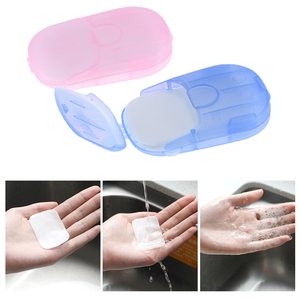 Boxed soap paper portable hand-washing tablets mini soap paper hotel travel disposable(China)