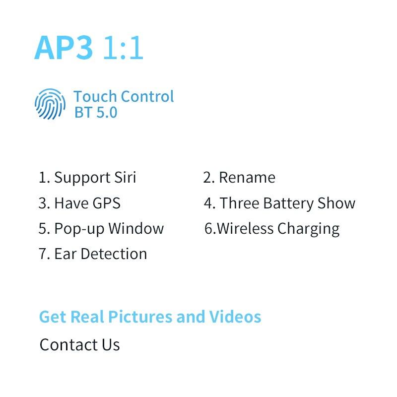 Наушники TWS Bluetooth 5,1, беспроводные наушники-вкладыши с супер басами для всех смартфонов PK i900000Pro AP3 MAX i99999 i9000